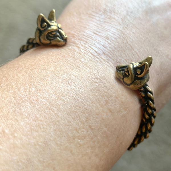 Cats of Freya Bracelet - Braided Bronze