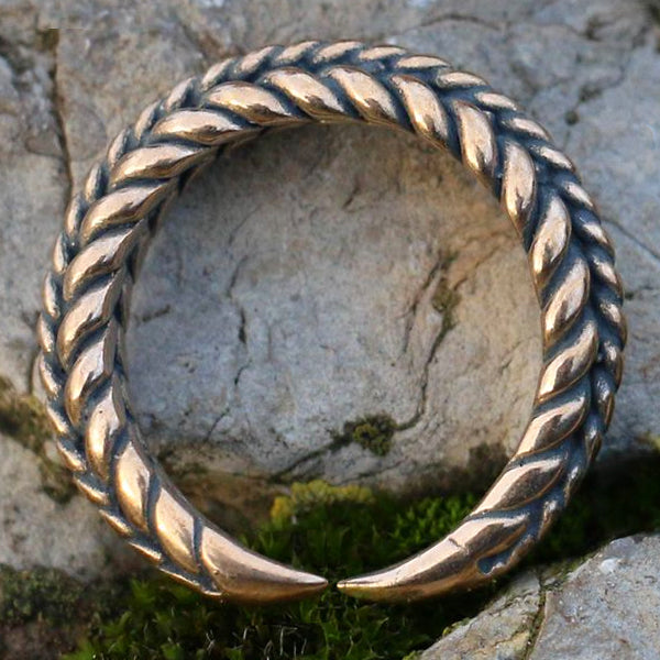 Braided Torc Ring - Bronze
