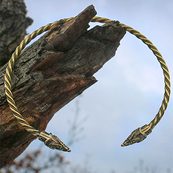 Brass Viking Neck Ring