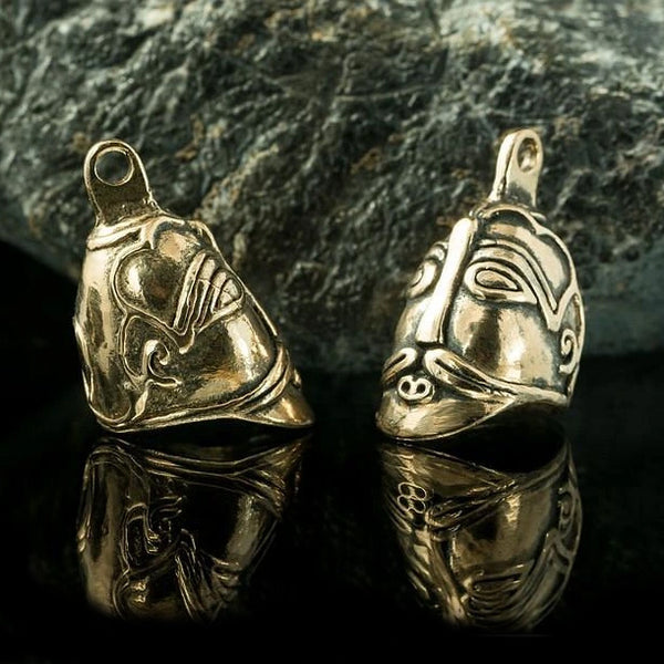 Heavy ASKA Viking Head Pendant - Bronze