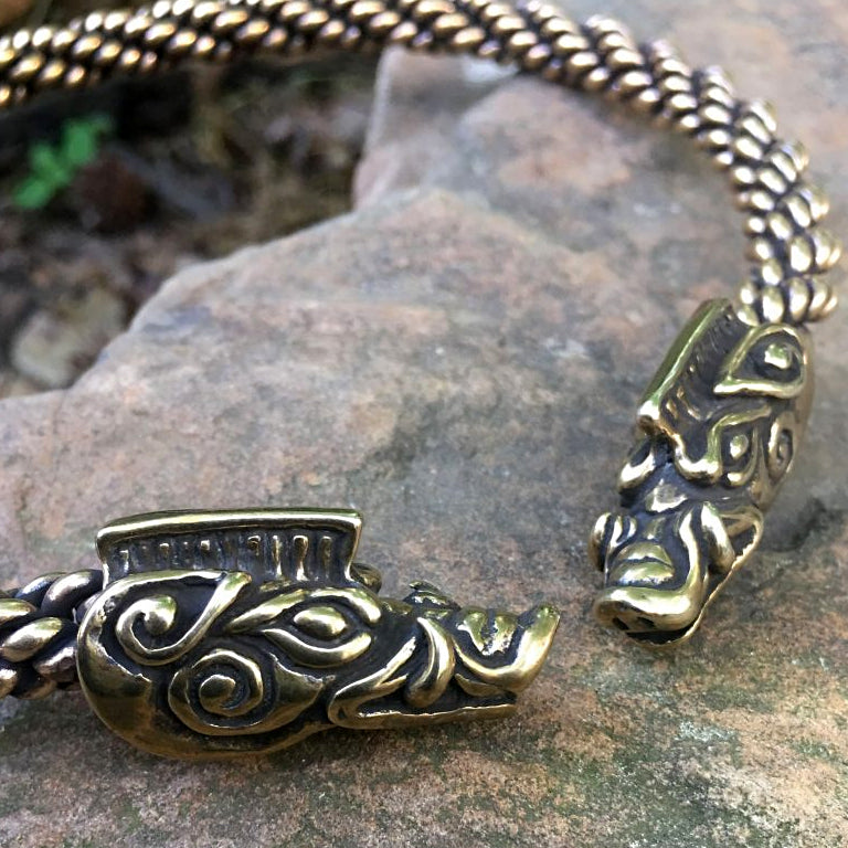 Bronze Boar Torc - Medium Braid