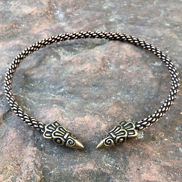 Bronze Raven Torc - Light Braid