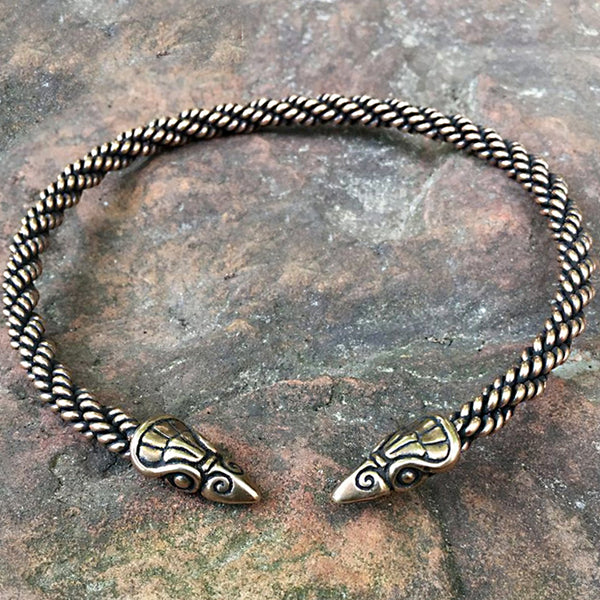 Bronze Raven Torc - Medium Braid