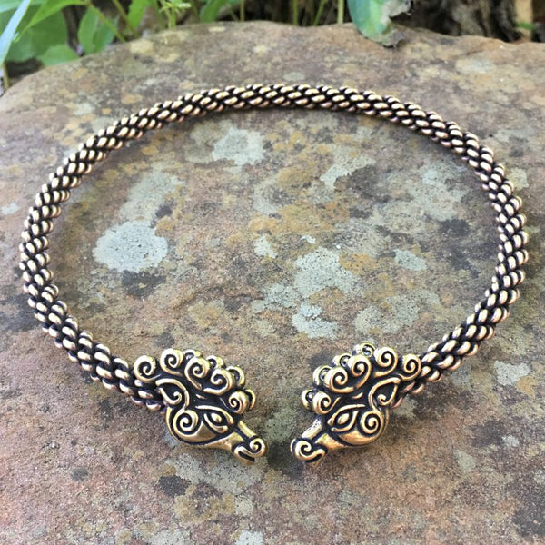 Bronze Stag Torc - Medium Braid