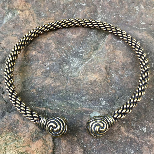 Bronze Triskele Torc - Heavy Braid