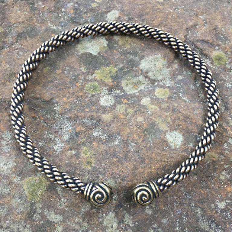 Bronze Triskele Torc - Medium Braid