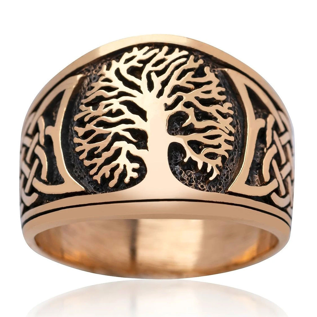 Bronze Yggdrasil Ring
