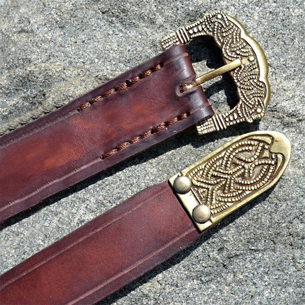 Brown Viking Belt - Leather