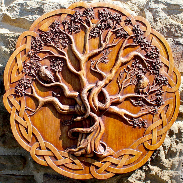 Carved Wood Yggdrasil