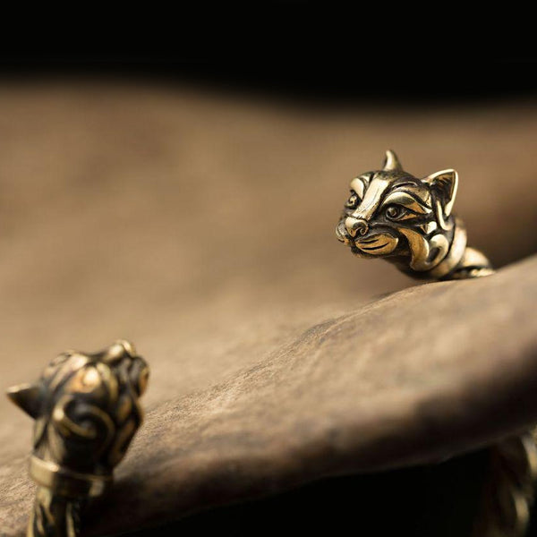 Cats of Freya Bracelet - Brass