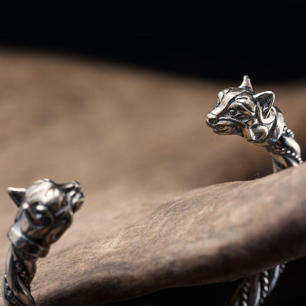 Cats of Freya Bracelet - Sterling Silver