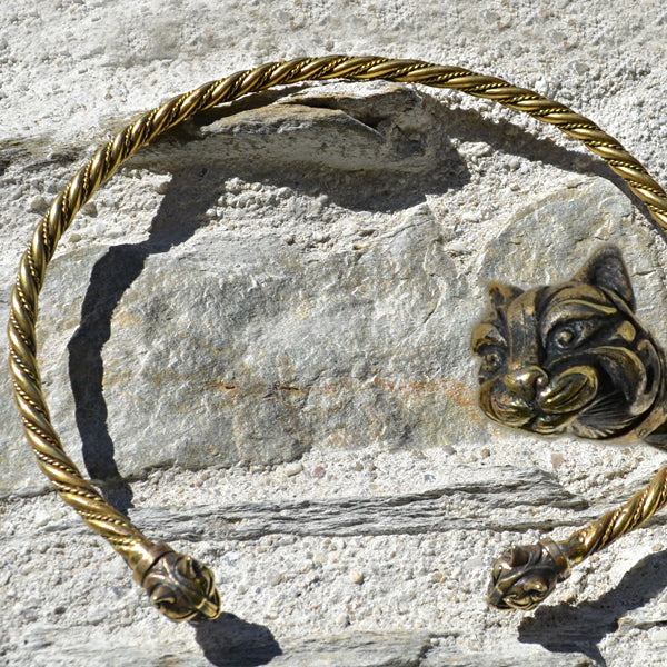 Celtic Cat Torc