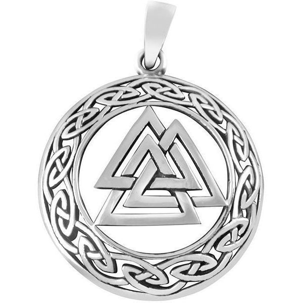 Celtic Knots Valknut Pendant - 925 Sterling Silver