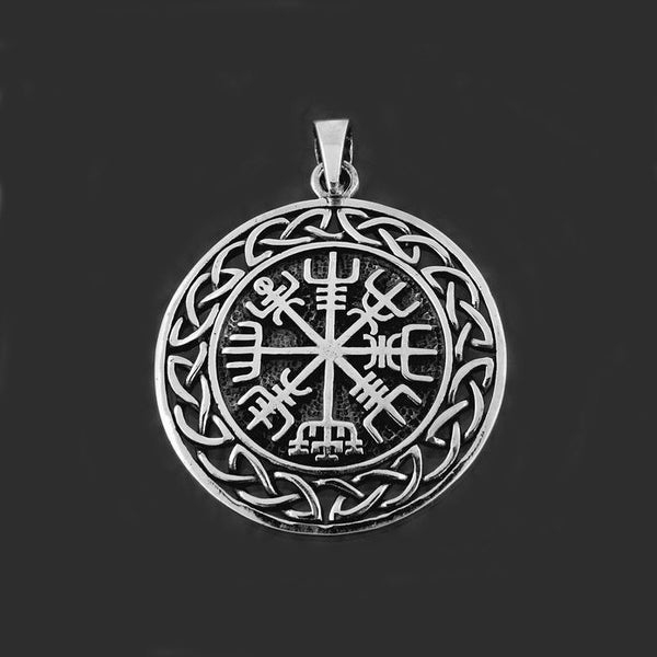 Celtic Knots Vegvisir Pendant - Sterling Silver
