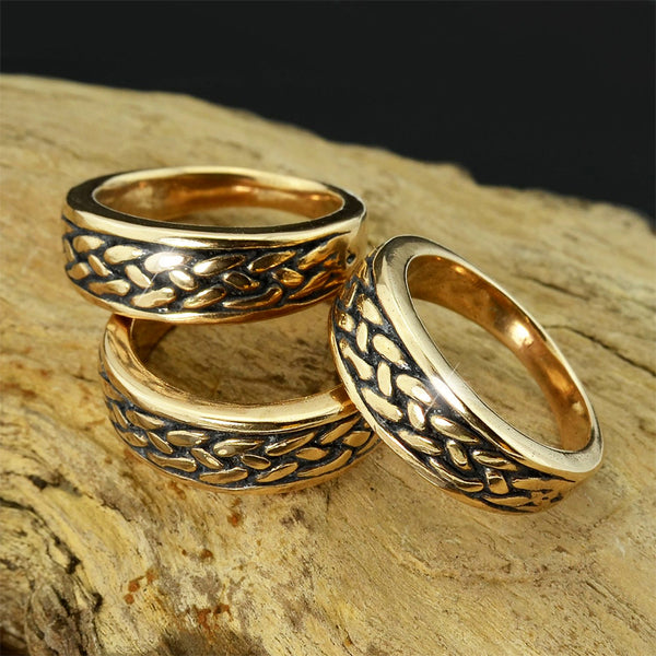 celtic weave ring bronze