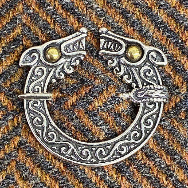 Celtic Wolf Brooch - Bronze or Silver