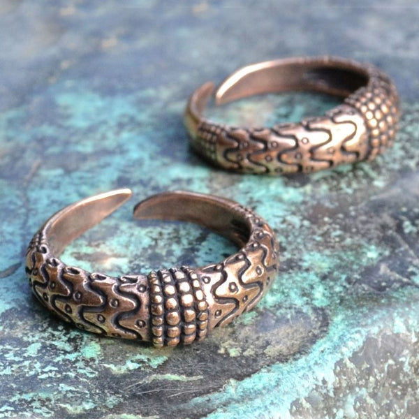 Danish Viking Ring - Bronze
