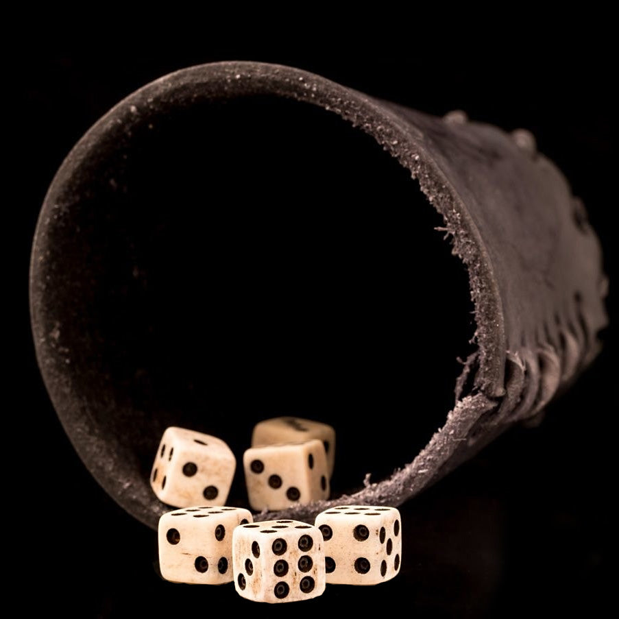 Viking Dice & Cup Game - Bone