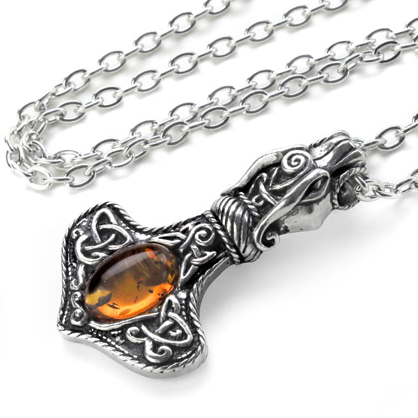 Dragon Hammer with Amber Gemstone