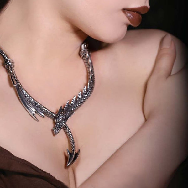 Jormungand Necklace - English Pewter