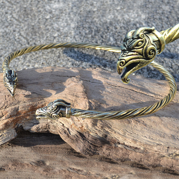 Dragon Torc Brass