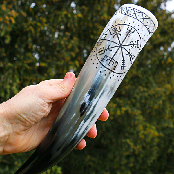 Viking Compass Drinking Horn