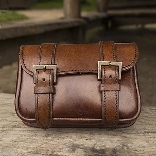 Dual Strap Leather Bag