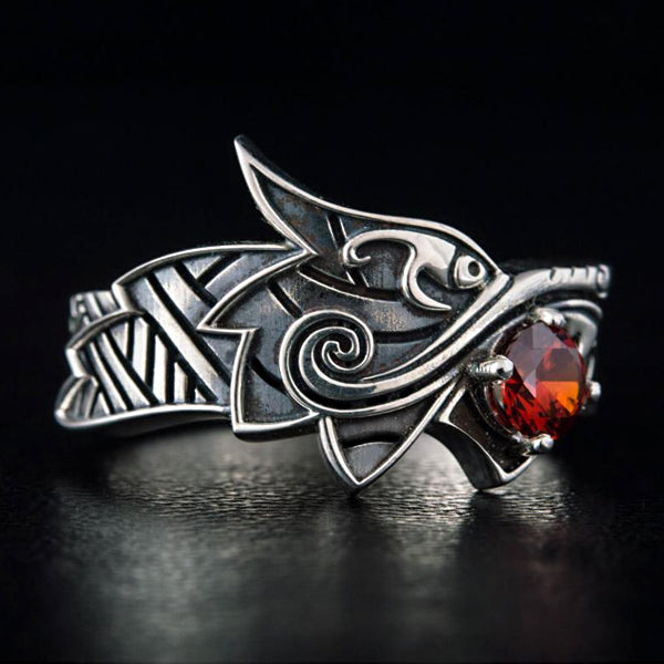 Fenrir with Gem Ring - Sterling Silver or Gold