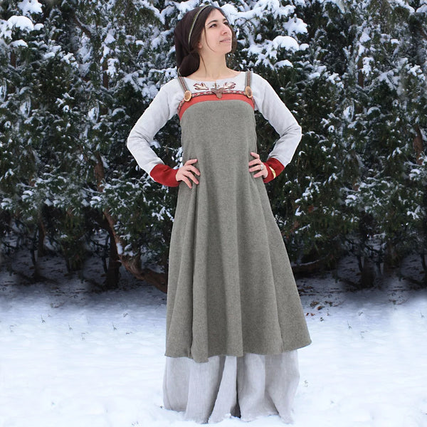 Apron Viking Dress - Fine Wool