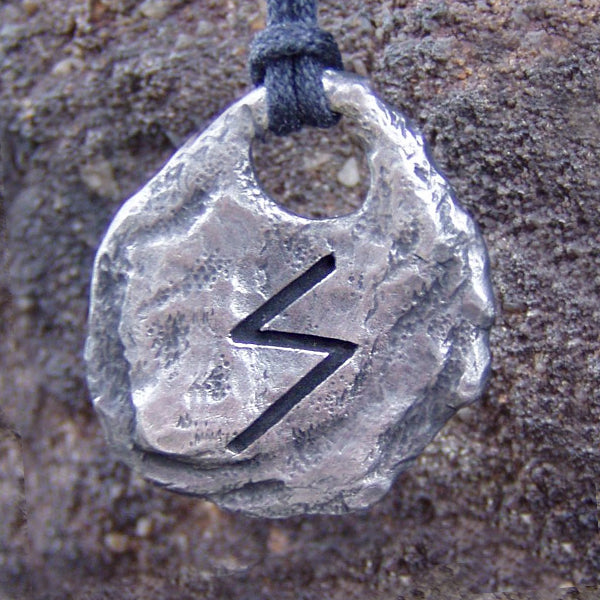 Hand Forged Alloy Rune Pendants