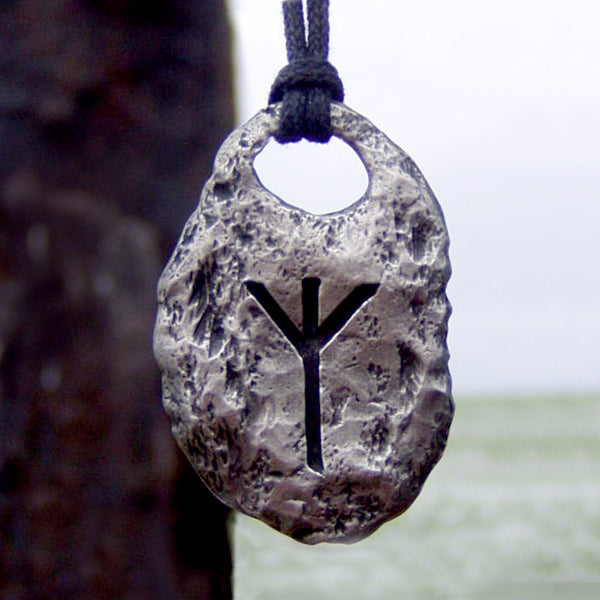 Hand Forged Pewter Rune Pendants