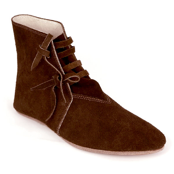 Suede Viking Shoes - Leather