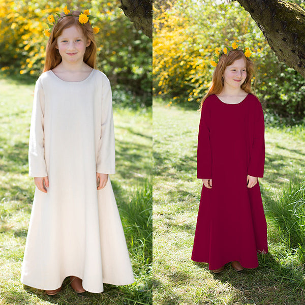 Girl's Viking Underdress - Light Cotton