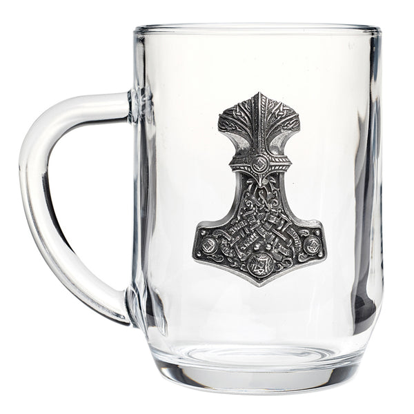 Glass Mjolnir Mugs
