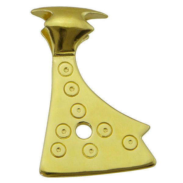 14K Gold Axe Head Pendant