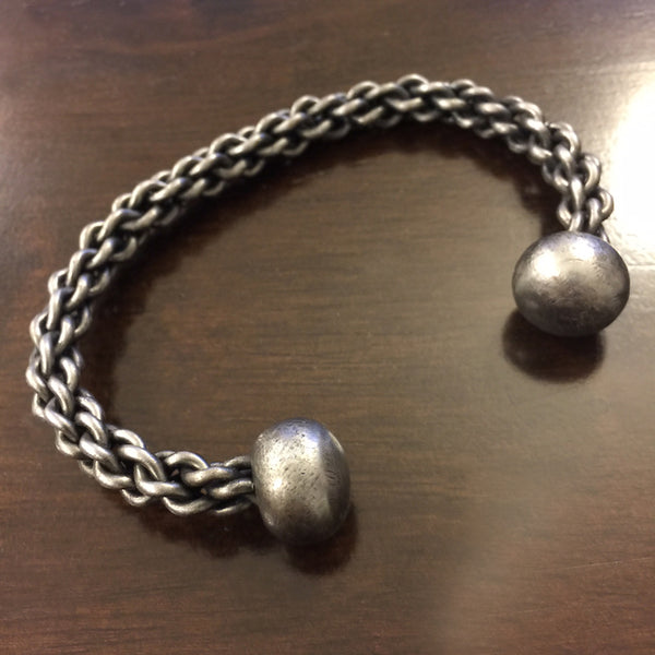 Hand Forged Braided Bracelet - Steel
