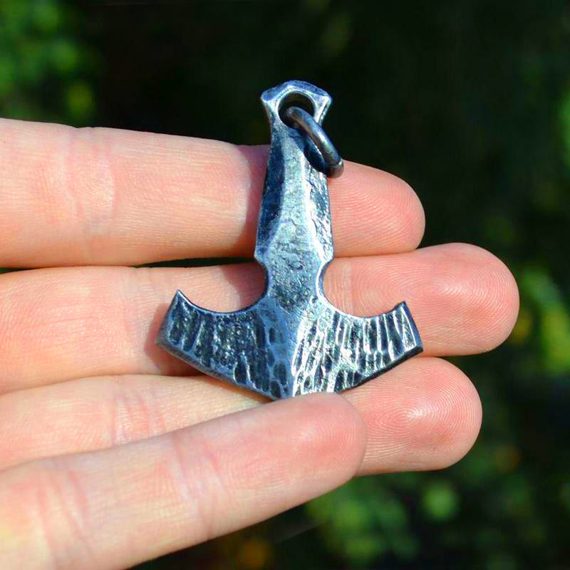 Hand Forged Steel Thor's Hammer
