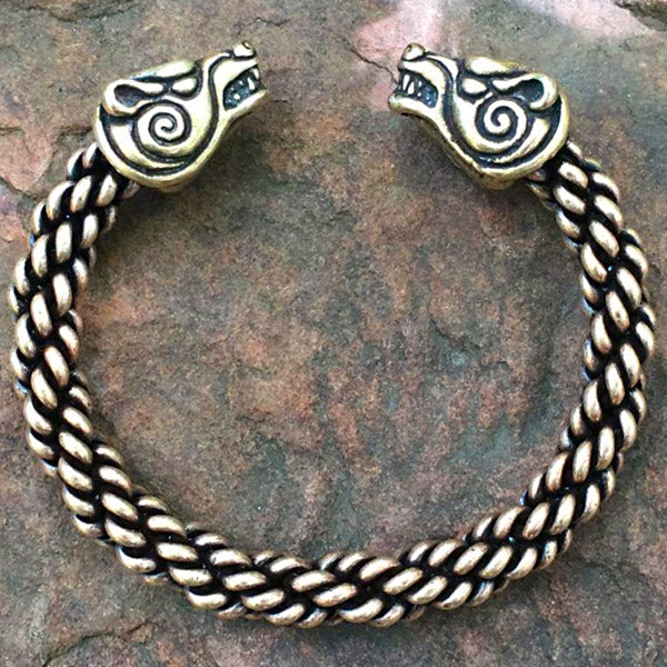 Heavy Braid Bear Bracelet - Bronze