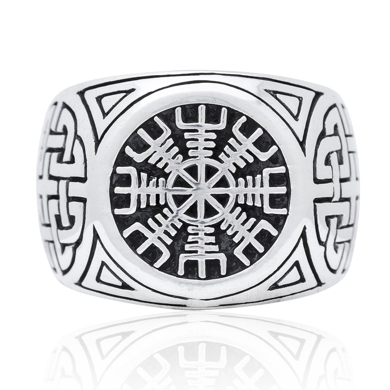 Silver Helm of Awe Ring