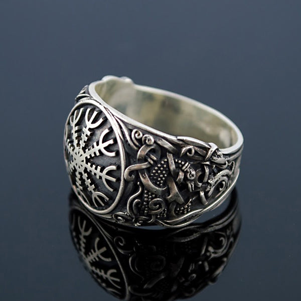 Helm of Awe Ring - Sterling Silver or Gold