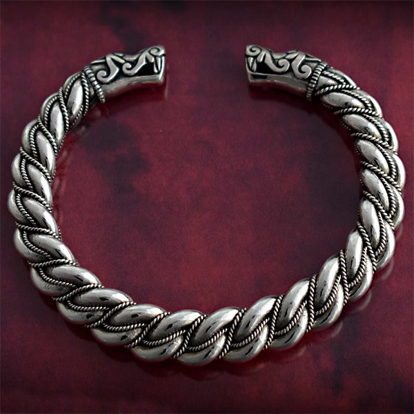 Historically Accurate Gotland Bracelet - Sterling Silver
