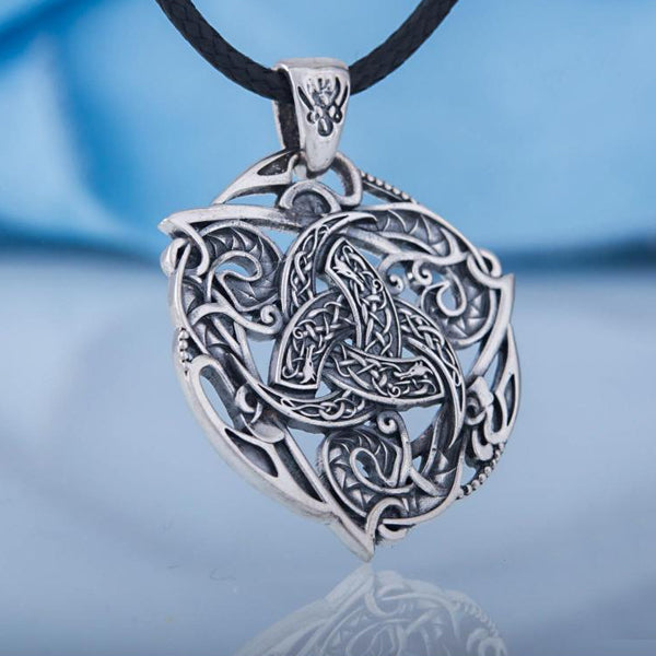 Horns of Odin Amulet - Sterling Silver or Gold
