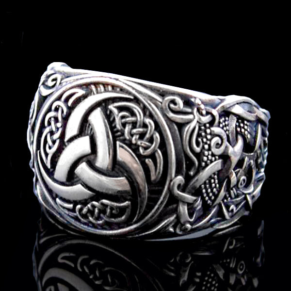 Horns of Odin Ring - Sterling Silver or Gold