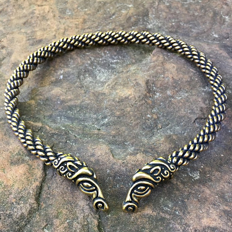 Horse Torc (Heavy) - Bronze or Silver