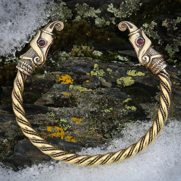 Huginn and Muninn Arm Ring - Brass