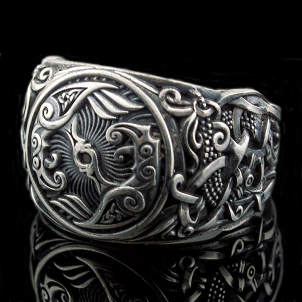 Huginn and Muninn Ring - Sterling Silver or Gold