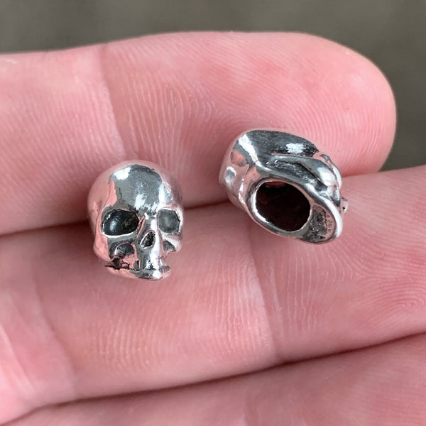 Pair of Human Skull Beard Beads