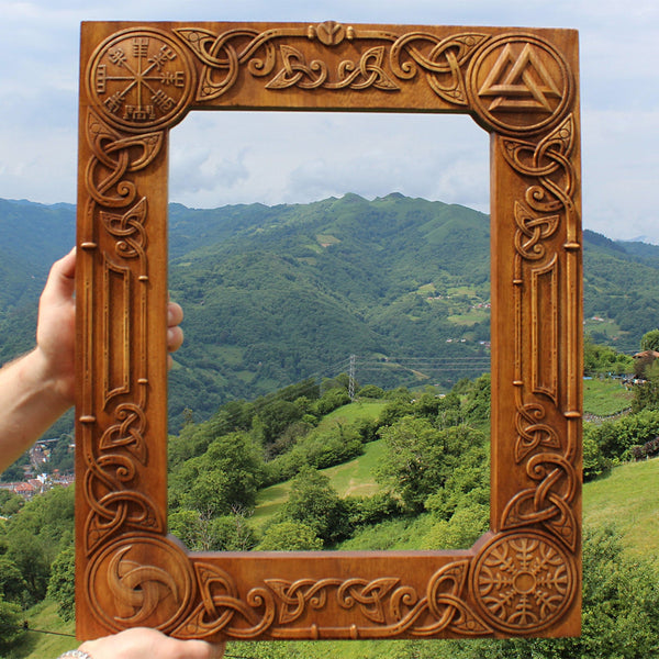 Carved Wood Frame - Sized to Order