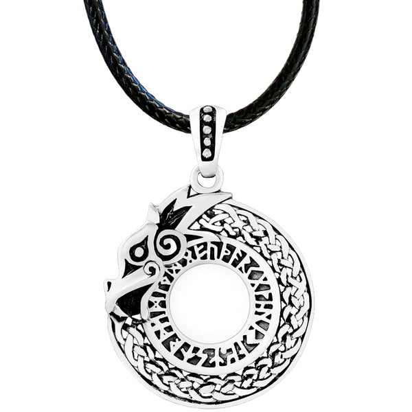 Jormungand Necklace - Sterling Silver