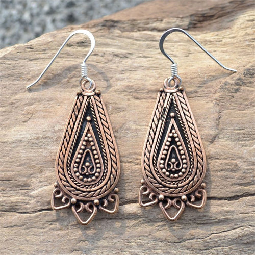 Lada Earrings - Bronze
